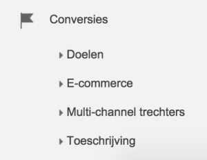Conversies Analytics